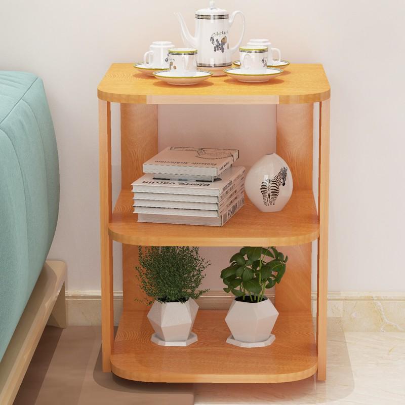 【爆款】北歐角幾邊幾收納置物架簡約沙發邊柜客廳迷你小茶幾床頭柜小桌子
