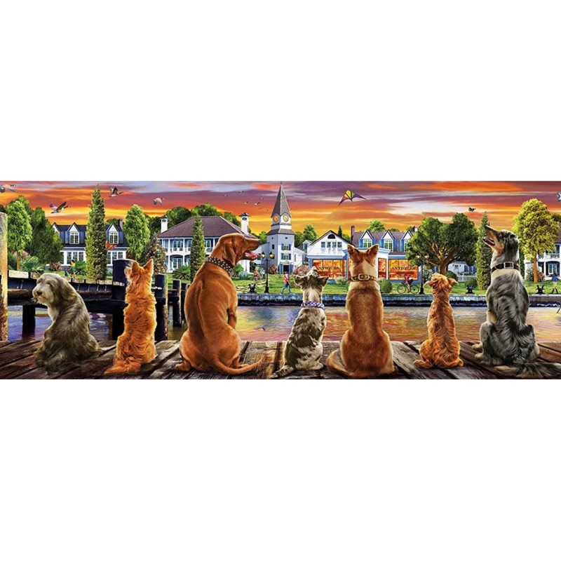 预购 Educa 拼圖 1000片 碼頭上的狗狗 17689 貓18001