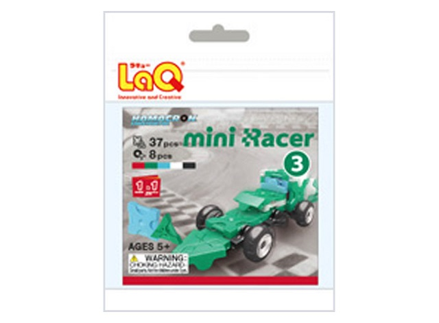 【e-child】LaQ Q版賽車-綠★日本製造立體3D拼接積木/益智玩具/台灣獨家代理