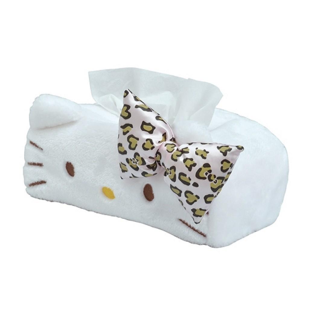 凱蒂貓 HELLO KITTY 車用面紙套(粉色豹紋) 4905339864551