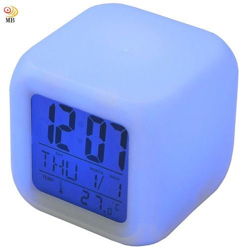 全新特價七彩變色多功能萬年曆溫度計貪睡鬧鐘(CK-20)