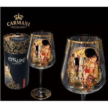Carmani 克林姆_吻_玻璃酒杯_800ml (Y218)波蘭製造