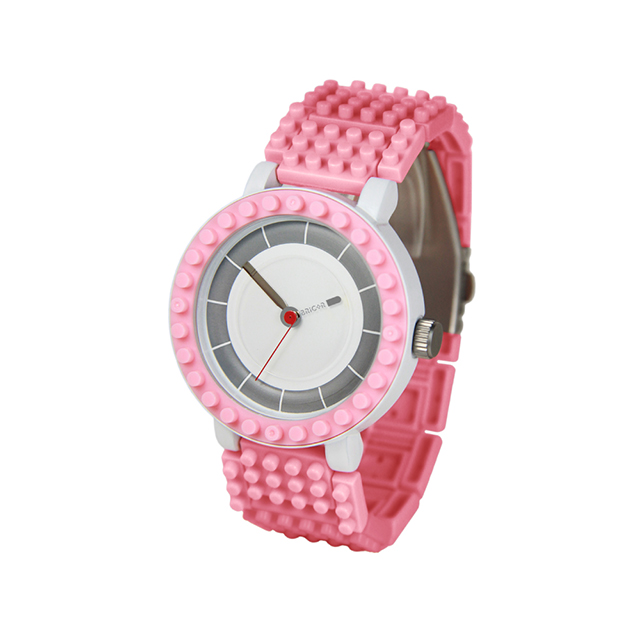 Bricor 微型積木DIY設計手錶圓型系列NTN-05 粉紅