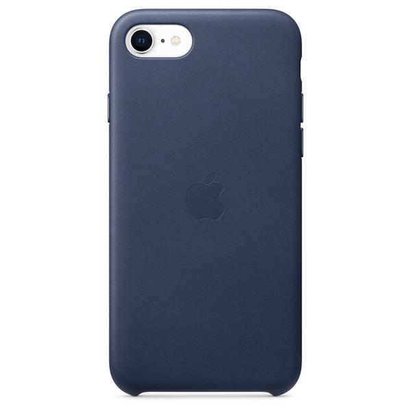 iPhone SE 皮革保護殼 - 午夜藍色 Apple