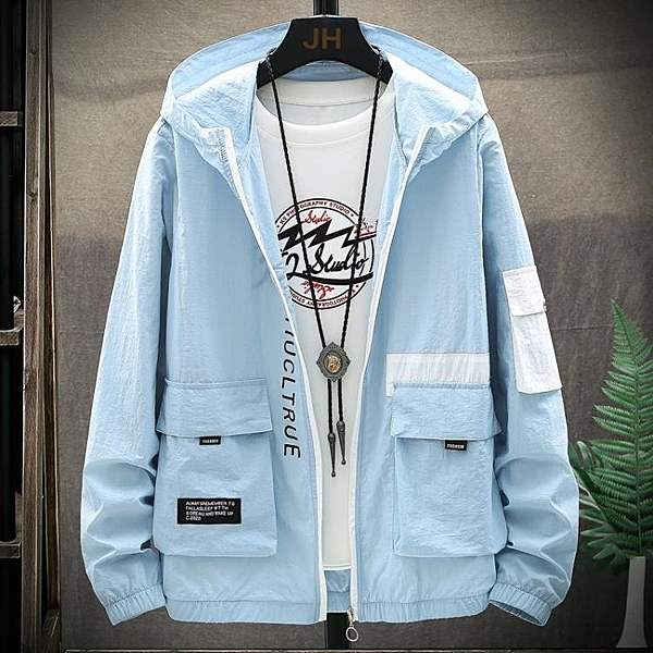防曬衣男超薄透氣防紫外線外套輕薄款戶外衫釣魚服夏季皮膚風衣N