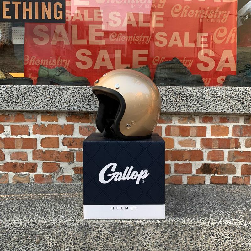 Gallop Helmet - First16 Motorcycle Helmets 3/4復古 安全帽 (鈦金)