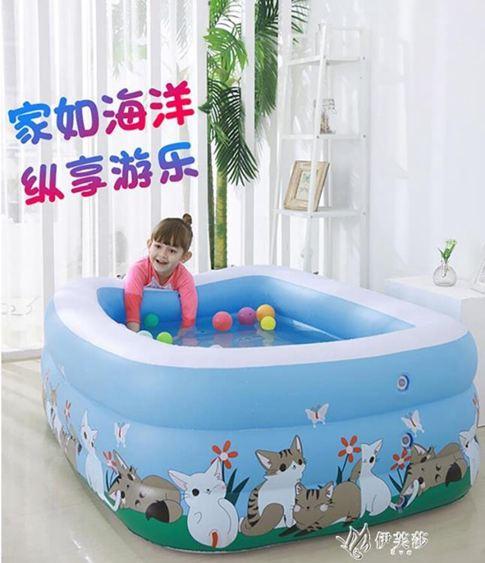 兒童游泳池家用充氣嬰幼兒大人洗澡桶加厚超大家庭寶寶小孩戲水池