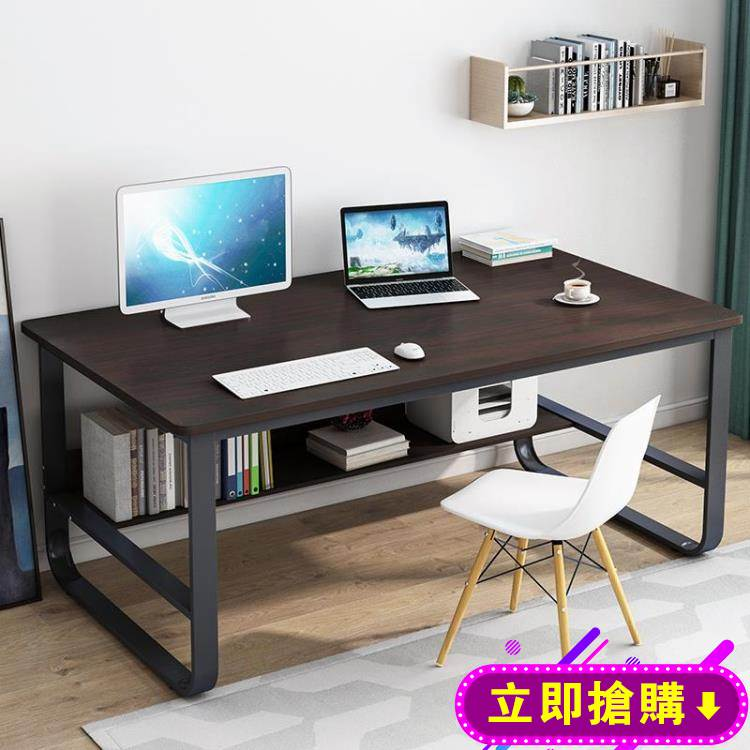 辦公桌電腦桌臺式簡易書桌家用學生寫字桌簡約現代桌子臥室學習桌 618購物節