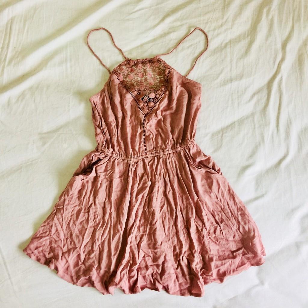 【全新】KENDALL+KYLIE乾燥玫瑰色夏日洋裝
