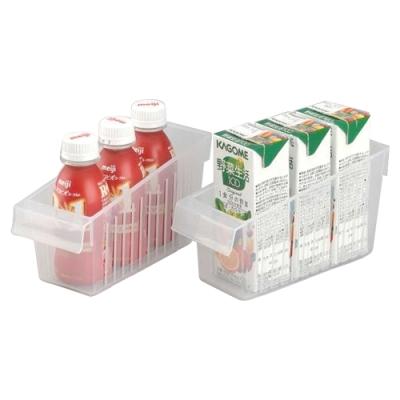 日本製造INOMATA冰箱冷藏拉取式深型收納籃(小)4入裝