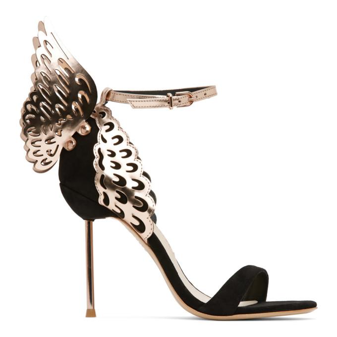Sophia Webster 黑色 Evangeline 绒面革高跟凉鞋
