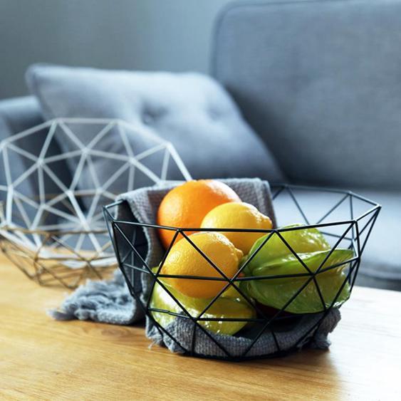 水果盤 水果盆果盤創意現代客廳歐式簡約鐵藝水果籃大號家用零食收納籃子