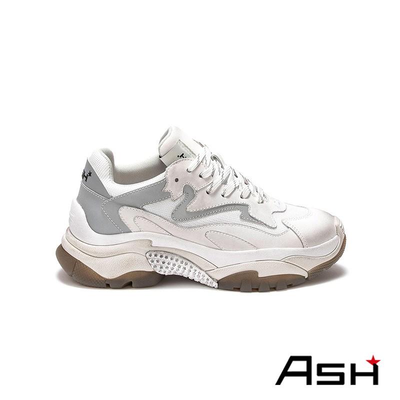 ASH 2020春夏新款 ADDICT 復古刷舊增高老爹鞋 灰色