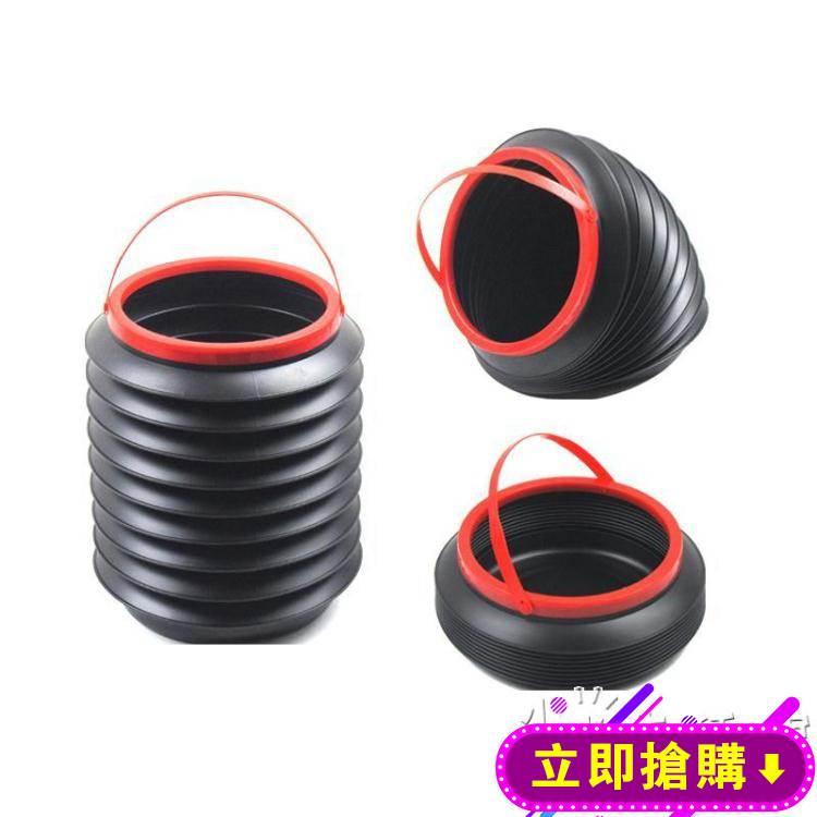 車載垃圾桶網紅百變伸縮汽車內用掛式可摺疊雨傘桶車上置物收納桶HM 免運