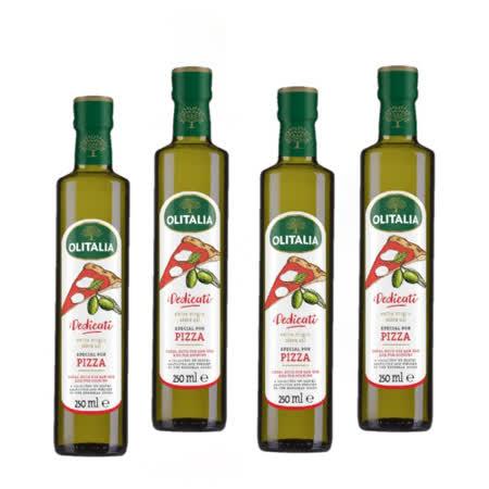 奧利塔Olitalia披薩麵包專用冷壓初榨特級橄欖油 -250ml *4瓶