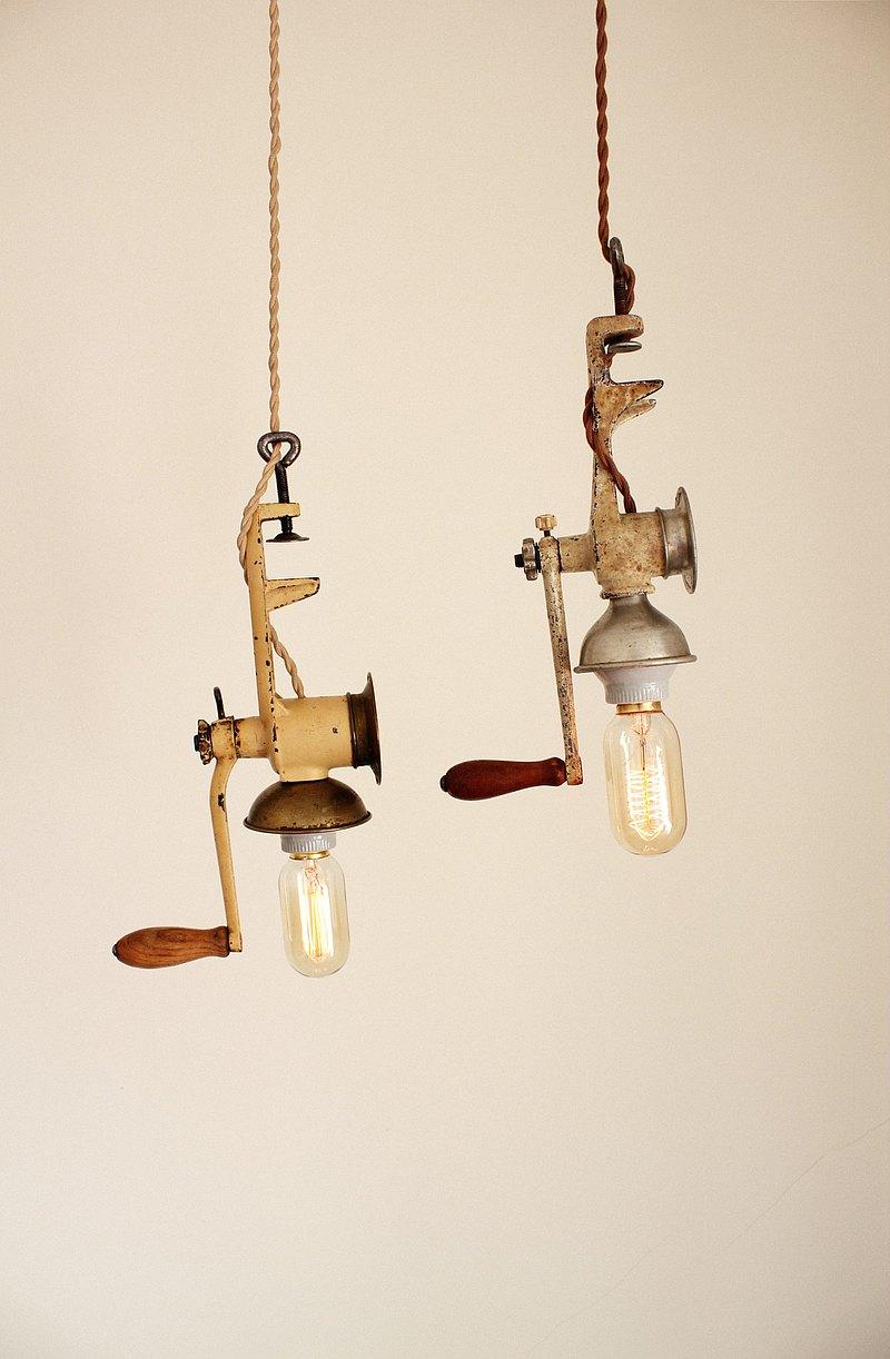 攪碎機吊燈 夾燈 工業風 北歐風 雜貨風 氣氛燈 老物 古董 擺設