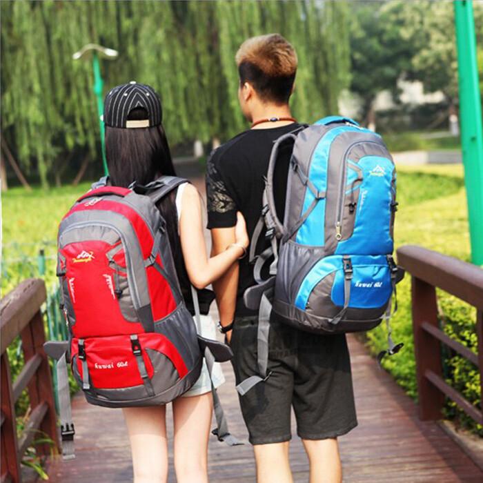 60l戶外休閒旅行超輕大容量雙肩包登山包戶外防水後背包