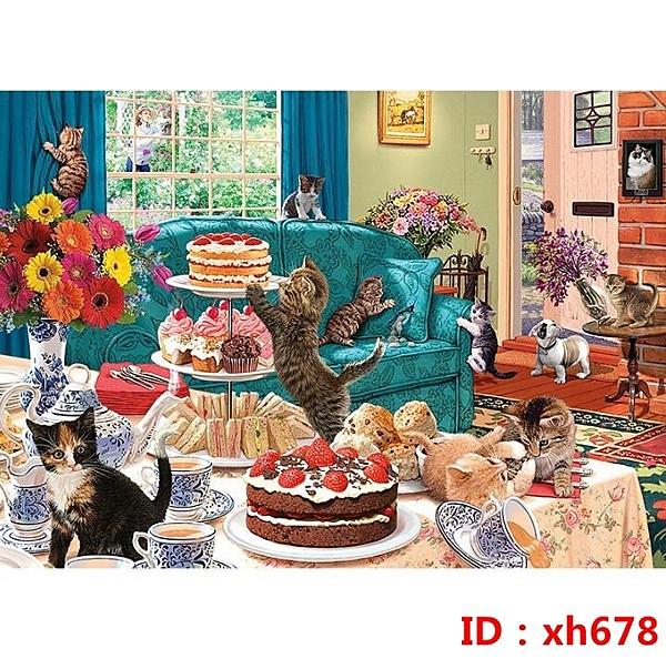 拼圖1000片發狂小貓成年減壓大型益智玩具