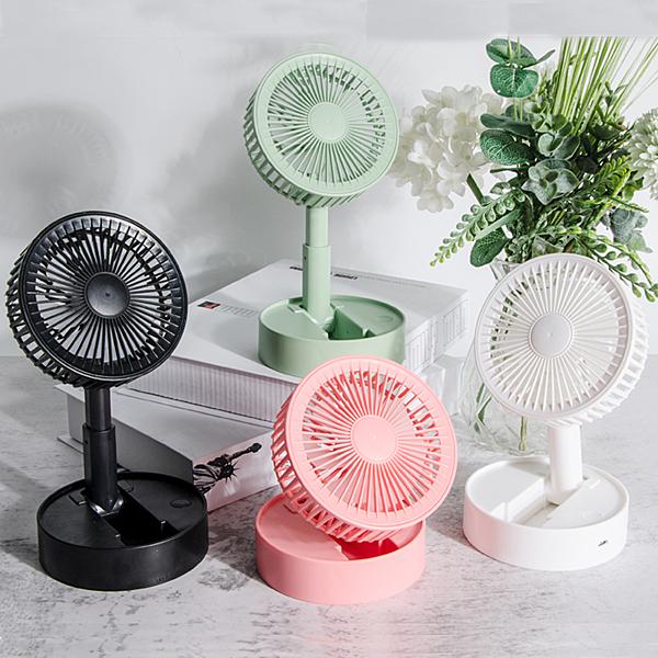 伸縮風扇 電風扇 3吋折疊風扇 桌面電風扇 可伸縮扇 摺疊小風扇 直立扇 露營扇【RS1124】