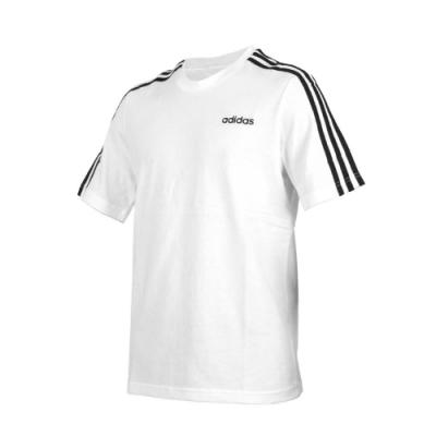 ADIDAS 男短袖T恤-亞規 純棉 休閒 上衣 慢跑 愛迪達 DU0441 白黑