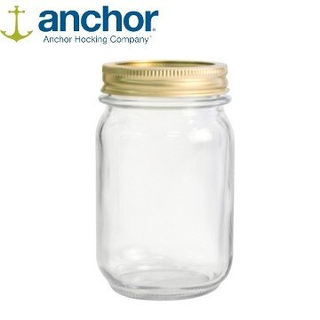 美國 Anchor  MASON Jar梅森玻璃罐475ml  A-10985