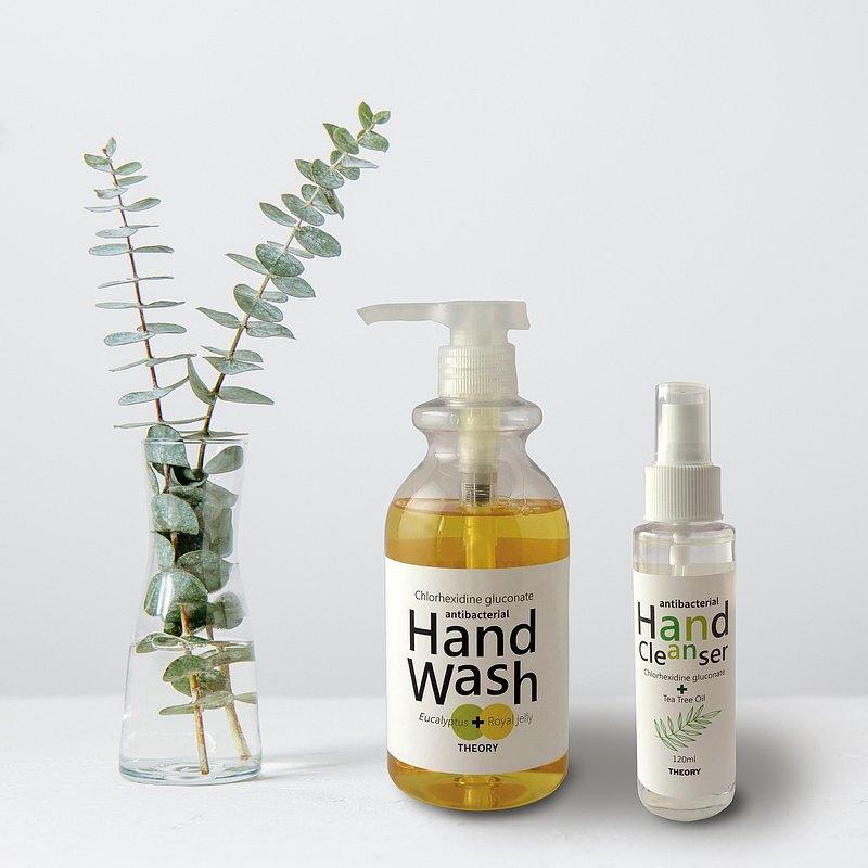 THEORY清潔理論│抗菌洗手系列│尤加利抗菌洗手乳+茶樹乾洗手