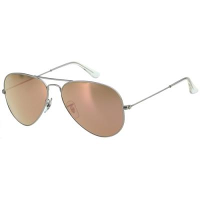 RAY BAN 水銀面太陽眼鏡(銀色)RB3025