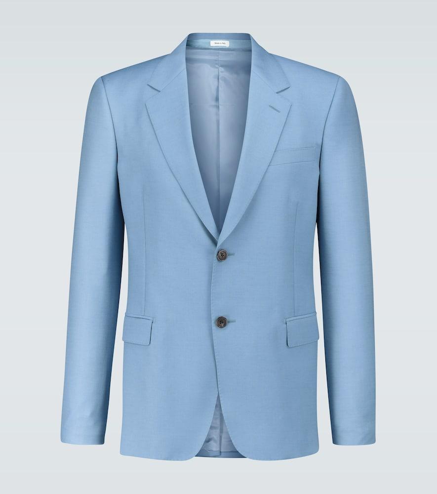 Wool and mohair-blend blazer