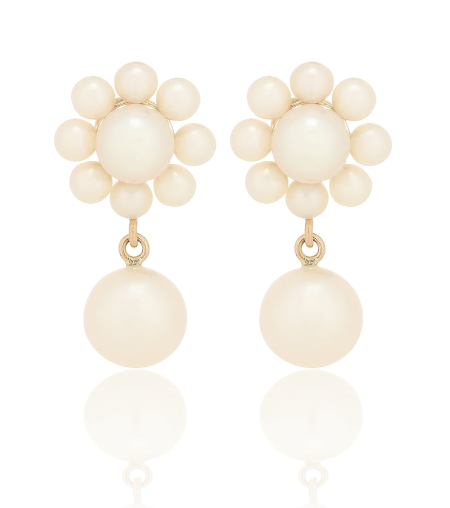 Margherita Perle 14kt yellow-gold earrings with pearls