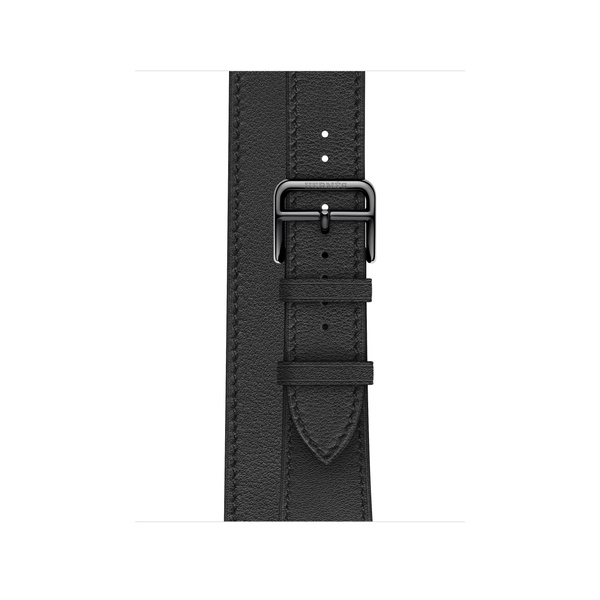Apple Watch Hermès - 40 公釐 Noir 黑色 Swift 皮革 Double Tour 錶帶