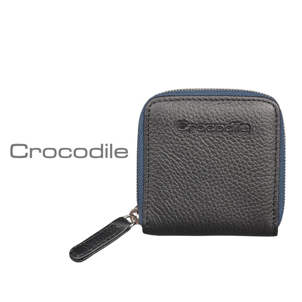 【Crocodile】荔紋系列 Easy 輕巧方形拉鍊零錢包 0103-08001
