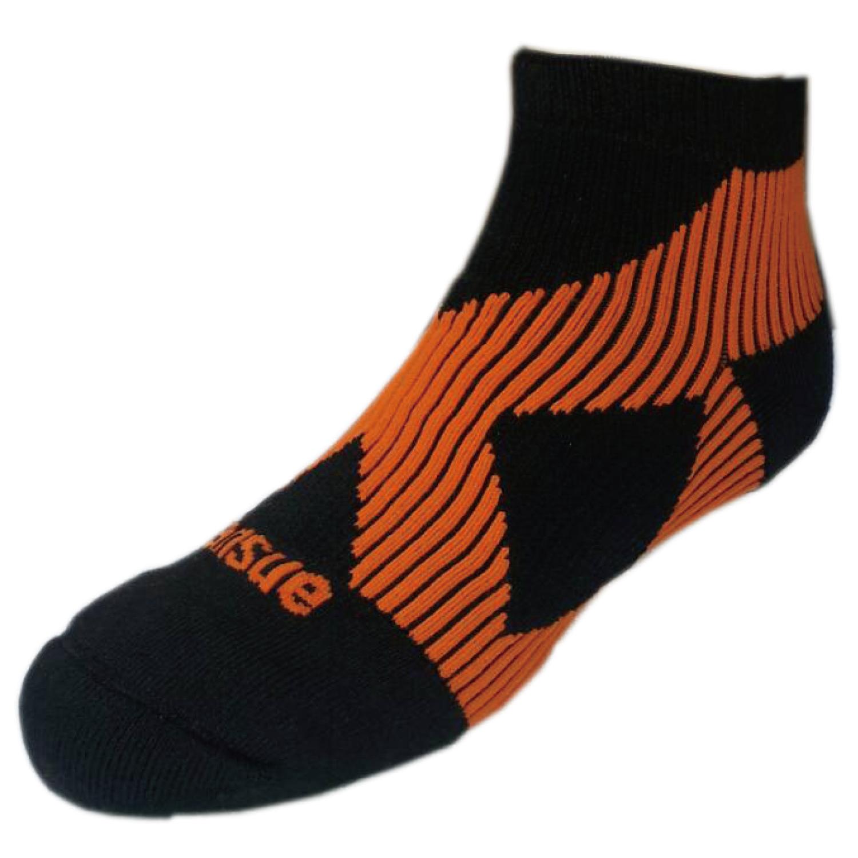 G01繃帶襪(腳踝、足弓加強防護)黑桔色(原價$300)