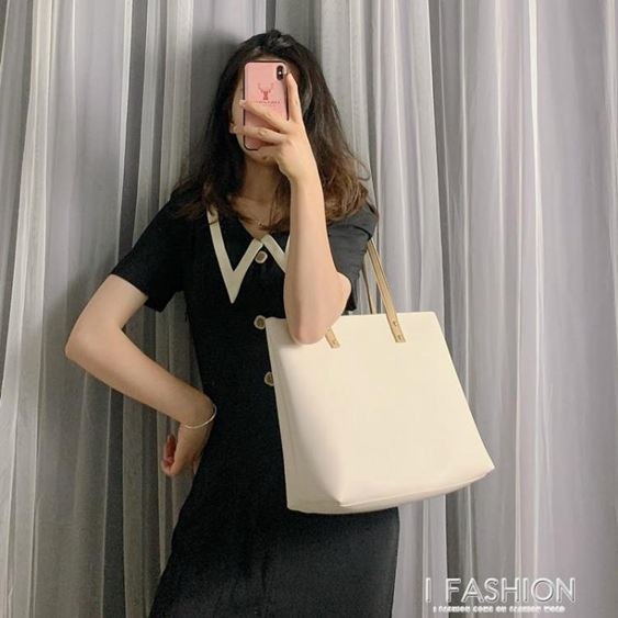 托特包 單肩包女大容量包包2020春夏新款韓版百搭托特包學生簡約手提女包