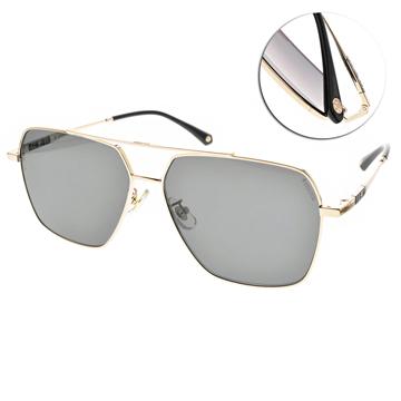 SEROVA偏光太陽眼鏡 率性雙槓造型款 (金-灰綠鏡片)# SS9062 C7