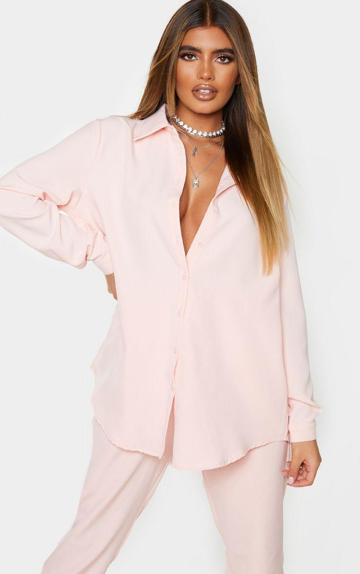 Light Pink Oversized Shirt