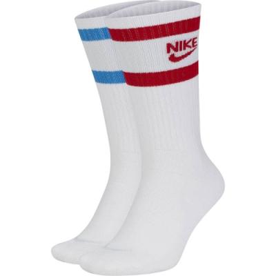 NIKE 襪子 訓練襪 4雙組 中筒襪 籃球 運動  白  SK0205902 U NK HERITAGE CREW 2PR