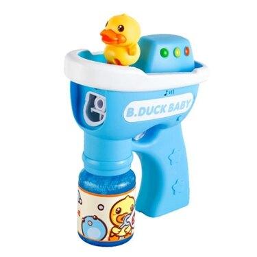 泡泡機B.Duck小黃鴨網紅泡泡槍兒童全自動聲光泡泡機無毒泡泡水 嬡孕哺