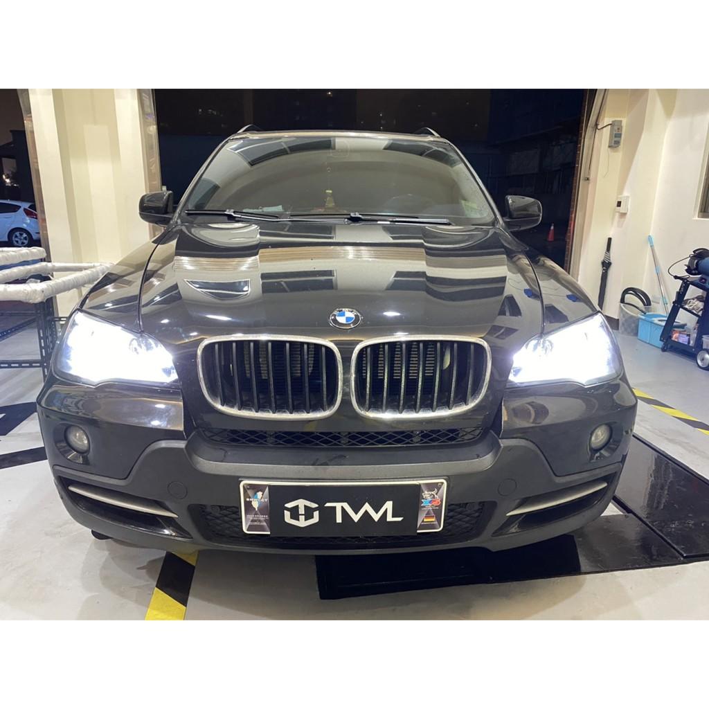 台灣車燈王 全新精品BMW寶馬E70 X5 08 09 10年黑底光圈魚眼投射HID大燈頭燈組另有晶鑽樣式