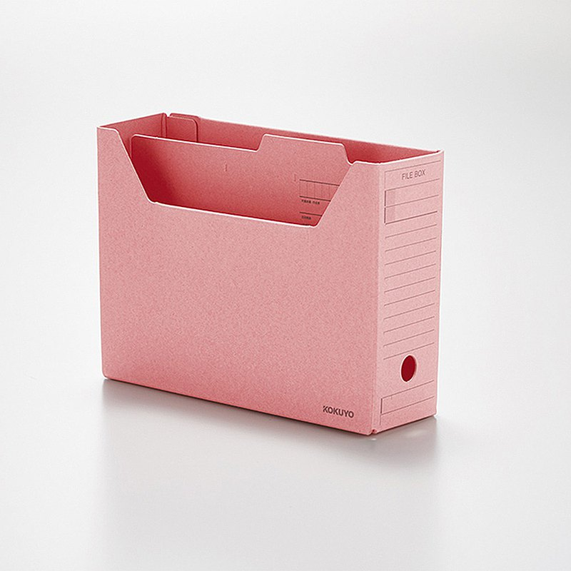 KOKUYO 懷舊迷你文具 開放式檔案盒 - 粉