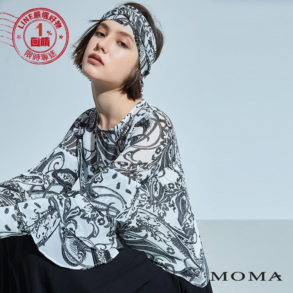 MOMA(92G023)民俗圖騰蛋糕袖上衣