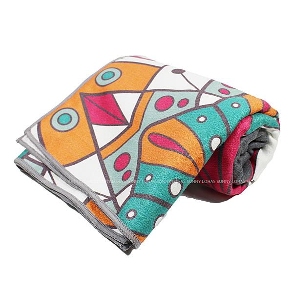 (B6) 矽膠止滑瑜珈巾 瑜珈鋪巾 超細纖維 止滑鋪巾 瑜珈墊 地墊 SNAY12灰 [陽光樂活]