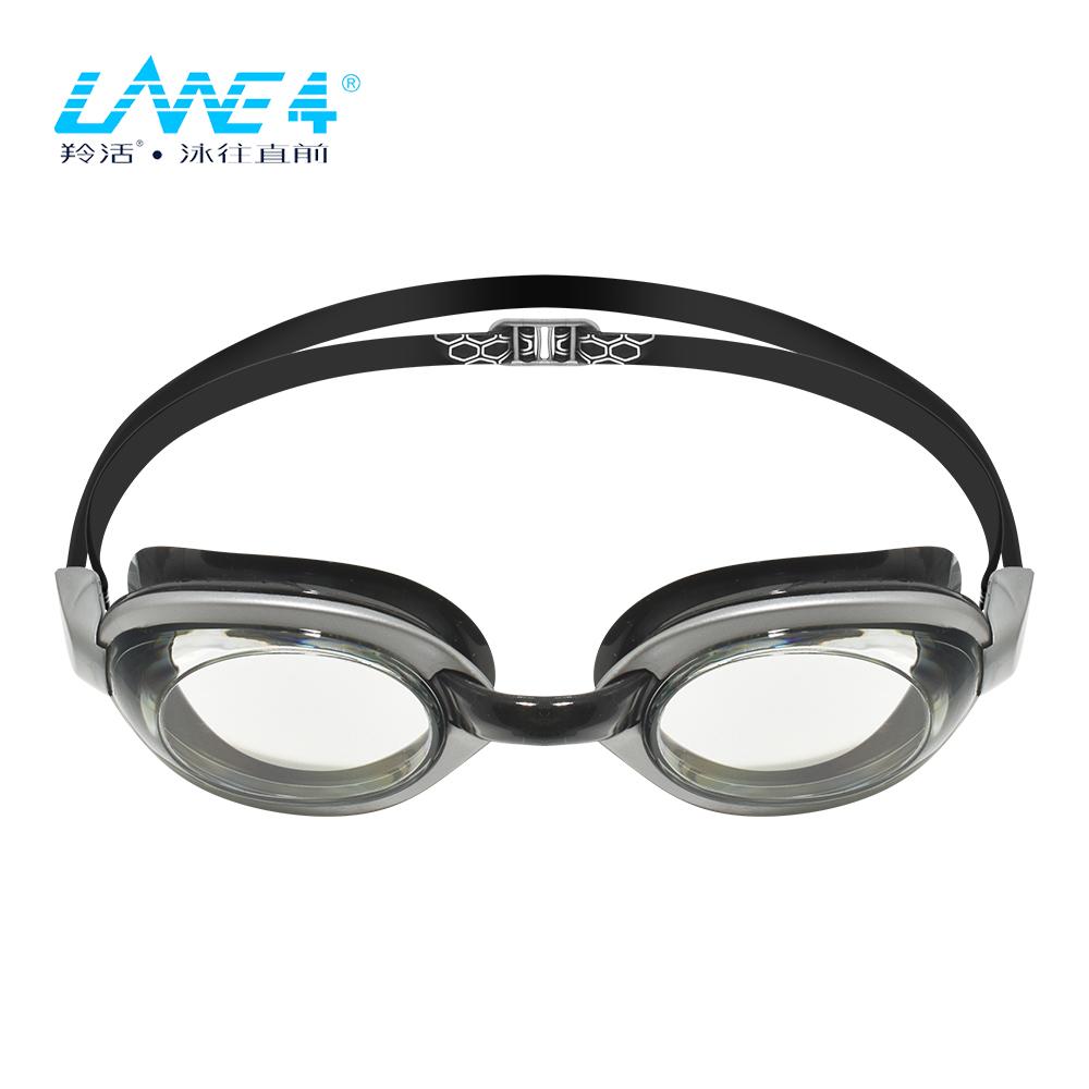 LANE4 OP 高品質研磨鏡片光學度數泳鏡 OP-514