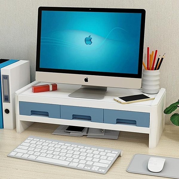 電腦增高架 臺式電腦增高架桌面收納盒辦公室神器顯示器螢幕底座置物架子YYJ 原本良品