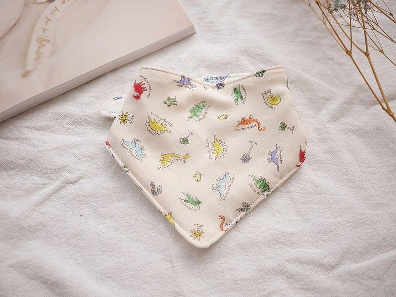 六層紗三角口水巾 恐龍款