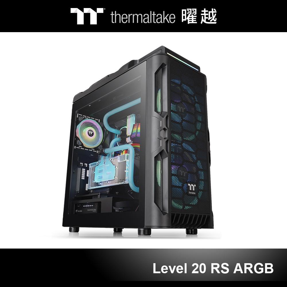 曜越 Level 20 RS ARGB ATX 中直立式 側透 機殼 黑色 CA-1P8-00M1WN-00