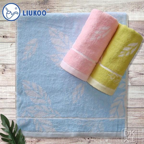 煙斗 32支精梳棉 葉子毛巾 (3條) LK608【DK大王】