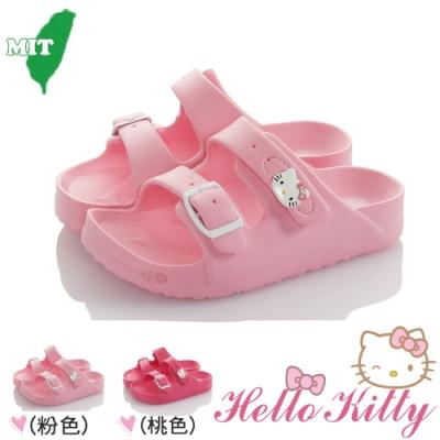 HelloKitty童鞋 防水極輕量吸震休閒拖鞋-粉.桃