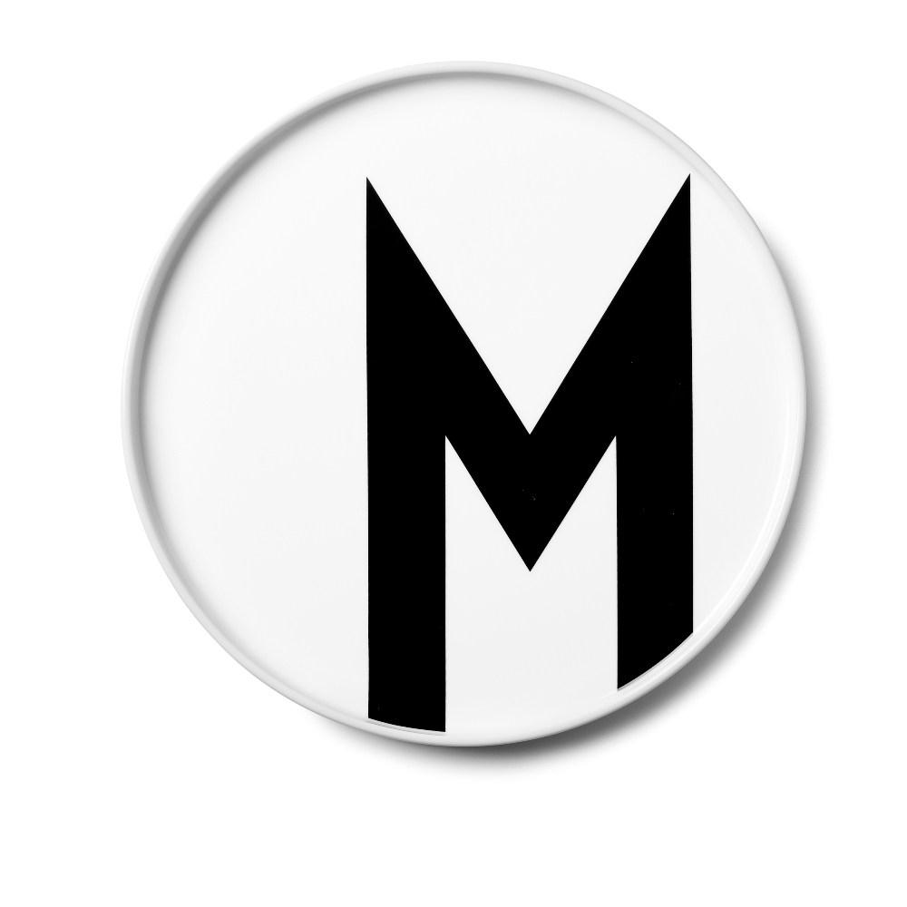 Design Letters 字母骨瓷平盤 M
