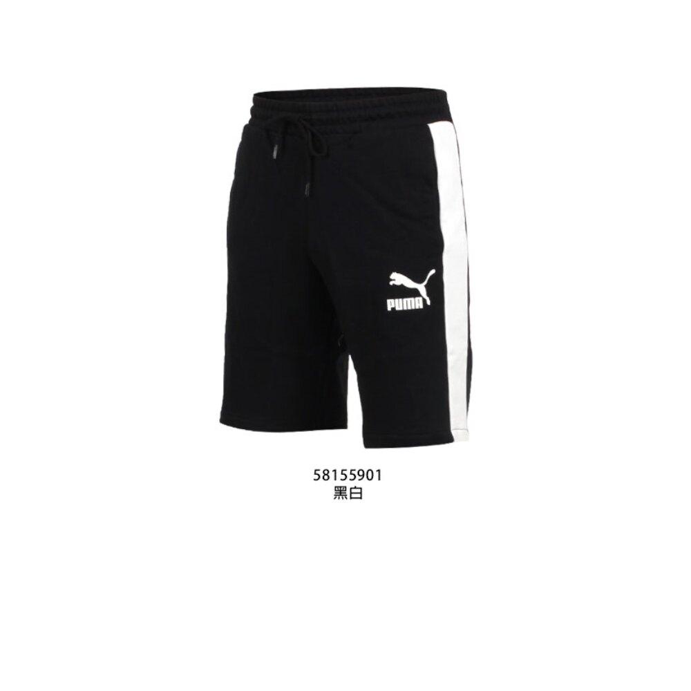 PUMA 男流行系列T7棉質10吋短褲(慢跑 純棉 復古 歐規 休閒 五分褲【581559】≡排汗專家≡