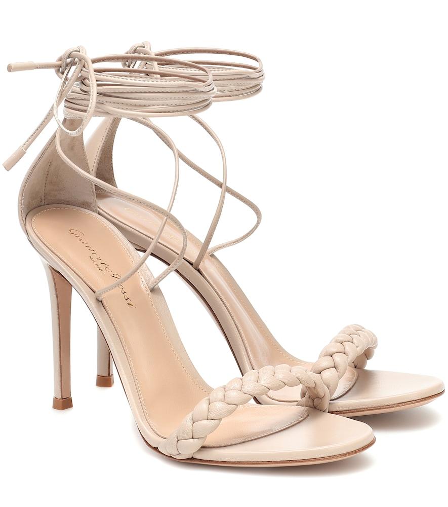 Leomi 105 braided leather sandals